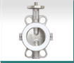 2pc PTFE lined butterfly valve