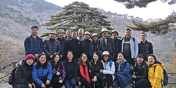 Coreline company trip in 2019 to Yellow Mountain
